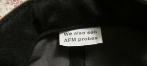 we also sell AFM probes - image of label inside of NanoWorld cap