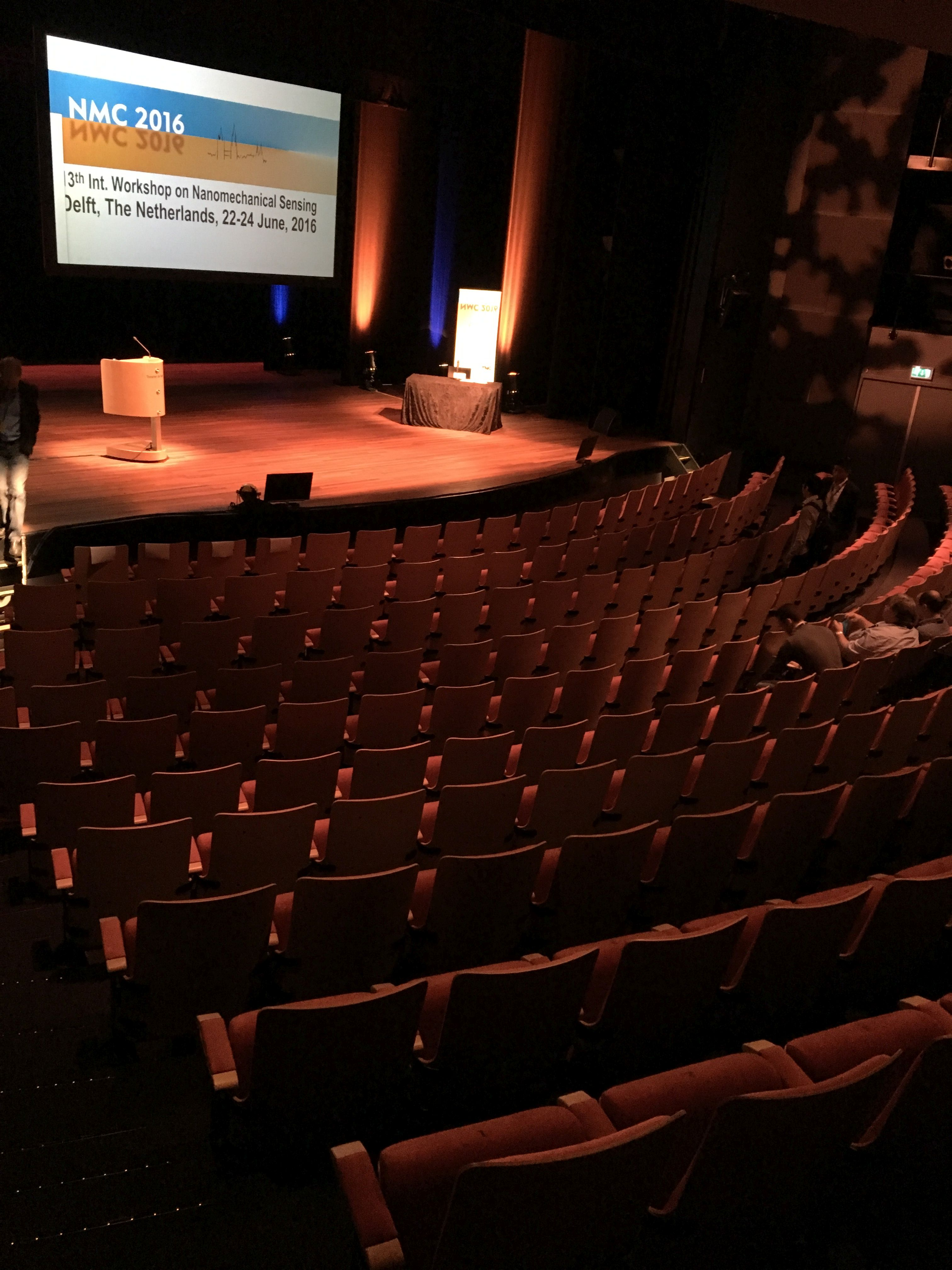 auditorium in readyness for NMC 2016