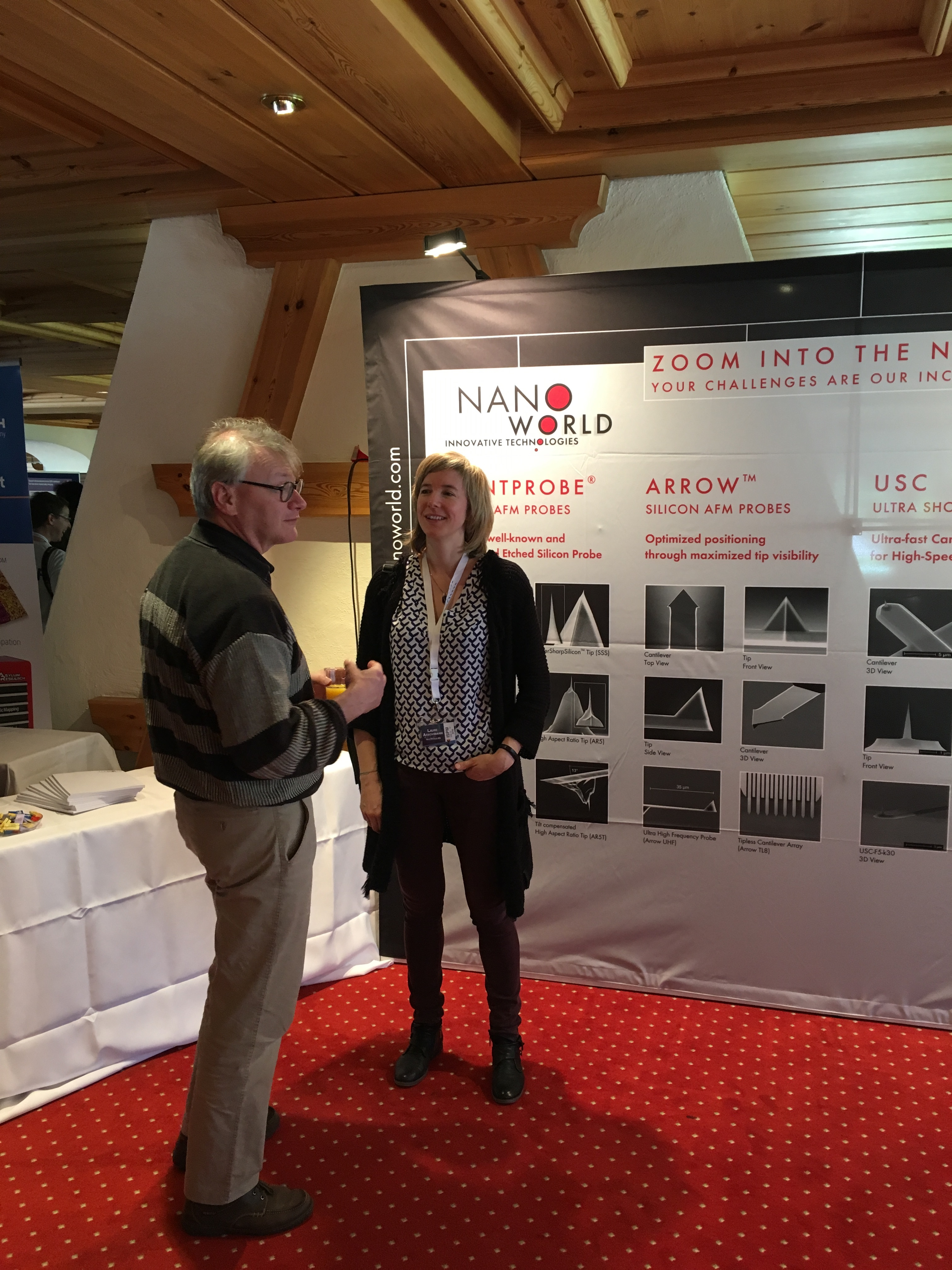 NanoWorld AFM probes booth at ISPM 2016, Grindelwald, Switzerland